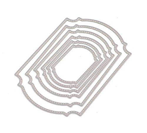 Mvchif Cutting Dies Metal Stencils Scrapbooking Tool DIY Craft Carbon Steel Embossing Template for Paper Card Making (Set of 6 Pcs Tag)