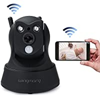 Wireless Security Camera Wifi IP HD 960P Camera Indoor Security Surveillance with Pan /Tilt Two Way Audio and Night Vision for Baby /Pet Monitor(black)