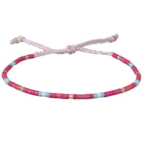 KELITCH Multicolor Crystal Friendship Bracelets