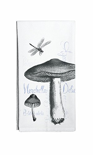 Montgomery Street Designs Mushrooms and Dragonfly Cotton Flour Sack Dish Towel