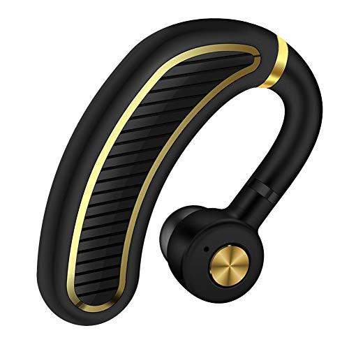 Bluetooth 헤드셋 무선 이어폰 Bluetooth 이어폰 모노 블루투스 이어폰 좌우 귀 겸용 고음질 통화 비즈니스 스포츠 통근 통학 차량 V4.1 마이크 내장 Iphone Android Windows PC 스마트 폰용 미니 경량 블랙골드/블랙실버