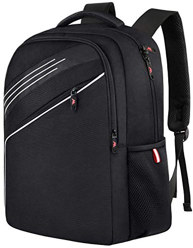 Ytonet School Backpack, College Student Backpack Laptop Bag for Men Women Boys Girls, Classic Lightweight Water-resistant Computer Bookbags for Campus and Travel, Fits 15.6 inch Laptop - Black