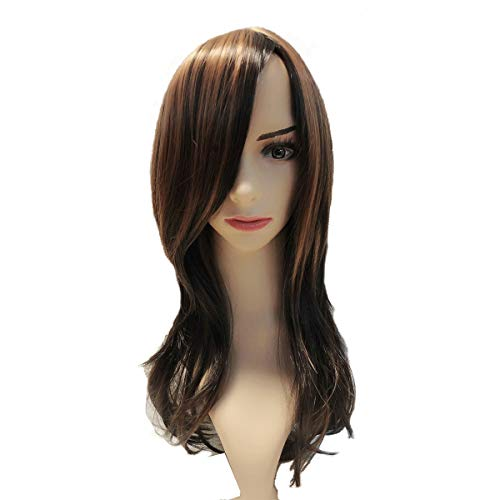 Long Layered Shoulder Length Synthetic Hair Ultra Soft Heat Resistant Fiber Highlight Multicolor for Women