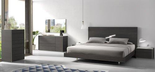 J&M Furniture 1786722-K Faro King Size Bedroom set - Wenge