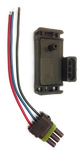 2 BAR MAP SENSOR FOR COMPATIBLE/REPLACEMENT GM TURBO BOOST w/Plug ELECTROMOTIVE MEGASQUIRT 16040609