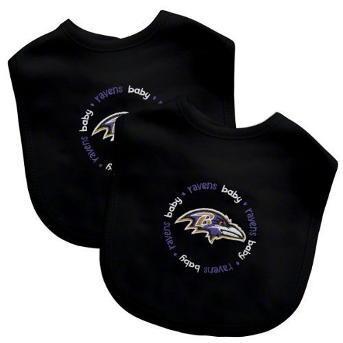 Baby Fanatic Team Color Bibs, Baltimore Ravens, - Football Baltimore Embroidered Ravens