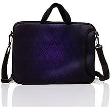 "10-Inch Neoprene Laptop Tablet Shoulder Messenger Bag Case Sleeve for 9.7 10 10.1 10.5"" Inch Netbook/Ipad Pro/Air (Classic Purple)"
