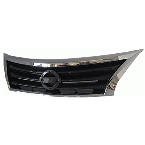 - CPP Chrome Shell w/Black Insert Grille Assembly for 2013-2015 Nissan Altima Sedan