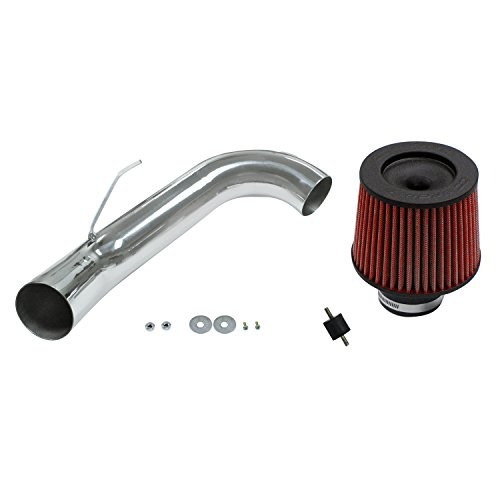 evrolet Chevy Cobalt Polished Cold Air Intake System with Filter and Installation Hardware (Chevy Cobalt Intake System)