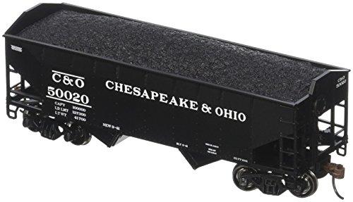 O 34' 2-Bay Offset Hopper w/Coal Load, C&O #50020 ()