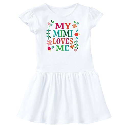 inktastic - My Mimi Loves Me Girls Outfit Toddler Dress 2T White 2c794 -