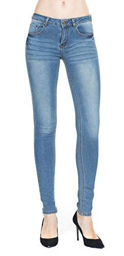 Women's Indigo Blue Super Comfy Stretch Denim Skinny