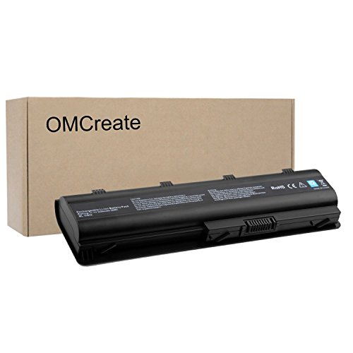 OMCreate Battery Replacement for HP MU06 593553-001 G62 G32 G42 G42T G56 G72 G4 G6 G6T G7, Compaq Presario CQ32 CQ42 CQ43 CQ56 CQ62-12 Months Warranty [Li-ion 6-Cell]