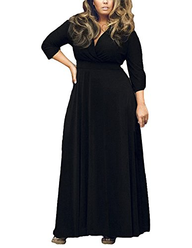 long black plus size evening dresses - 4