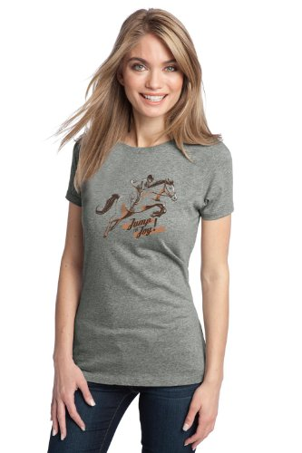 JUMP FOR JOY Ladies' T-shirt / Equestrian Horse Riding, Pony Love Tee