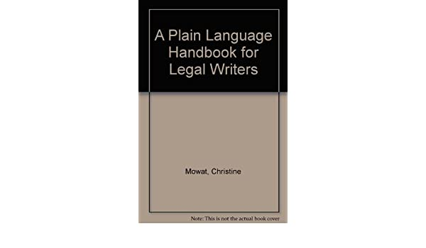 a plain language handbook for legal writers