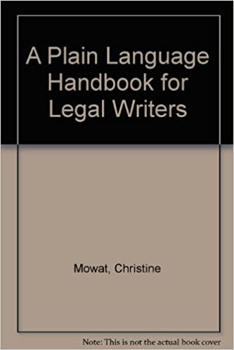 a plain language handbook for legal writers
