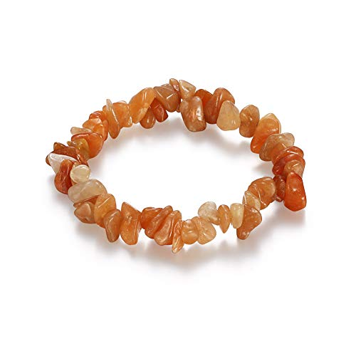 1pc Natural Crystal Healing Chip Gemstone 7 Inch Stretch Bracelet -