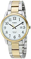Timex Men's TW2R23500 Easy Reader Two-Tone/White Stainless Steel Bracelet Watch