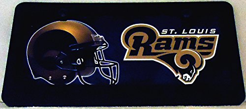 1 , Football Sign of the, SAINT LOUIS RAMS , Metal Sign, Framed in a Black Polyethylene Frame,8A2.0+17B5.4+3001+