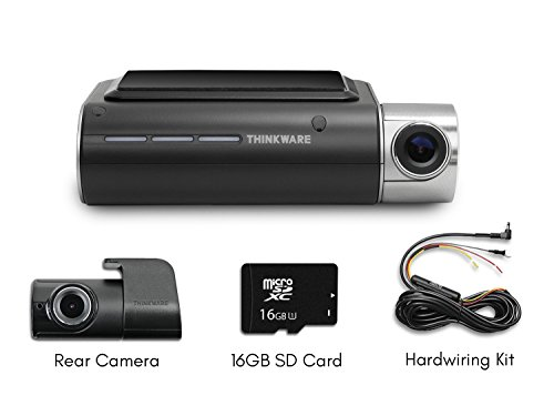 Thinkware F800 Exclusive 2-Channel Bundle 1080P FHD WiFi Rearview Camera 16GB and Hardwiring Kit Included by BlackboxMyCar