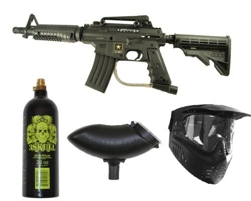 US ARMY Alpha Black Tactical Tippmann Paintball Gun Set