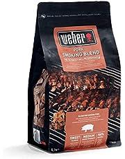 Weber 17664 rookchips voor varkensvlees, 700 g, roken, aroma, grillen en rookbox, universeel, voor gas- en houtskoolbarbecues, rookkarmona