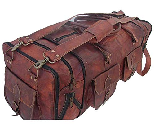 - Handmade Vintage Travel Luggage 30 Inch Duffel Gym Sports Bag