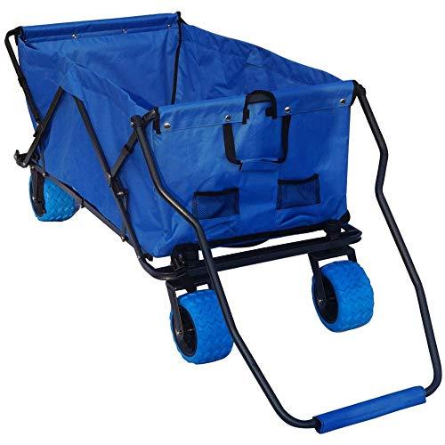 Impact Canopy Folding Utility Wagon, Collapsible All-Terrain Beach Wagon, Extra Large, Royal Blue (Xl Wagon)