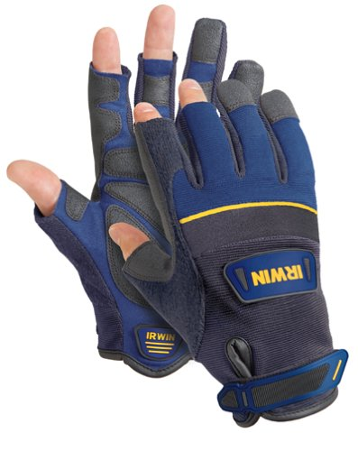 IRWIN Tools Carpenter Gloves, Large (432003) - Slick Open Loop