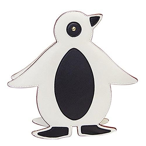 School Penguin Cute QZUnique Bag Lovely White Handbag Bag Shape Women's Crossbody Small Shoulder TAawaqY