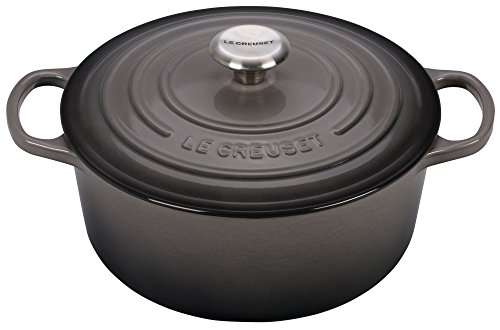 Le Creuset Cast Iron Pot (Le Creuset Signature Enameled Cast-Iron 5-1/2-Quart Round French (Dutch) Oven, Oyster)