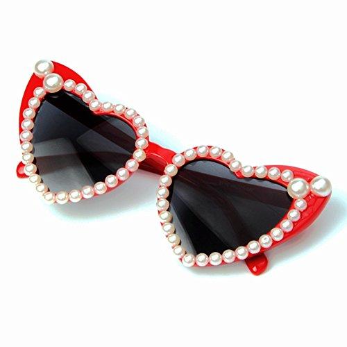 Gafas Corazón De De Atrás Gafas Forma Perla Gato De Lujo De De Gafas De De Sol Gafas Con Sol TIANLIANG04 Amor Ojo Mujer Señor O0URwqRS