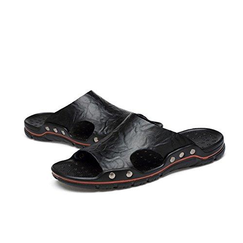 uomo in da uomoCasual Scarpe impermeabili Nero cm Sandali e estivi pelle uomo antiscivolo spiaggia estive 29 24 da Melodycp Sandali da da 5w8zOwqn