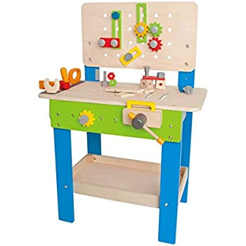 Fantastic Amazon Com Kidkraft Deluxe Workbench With Tools Toys Games Frankydiablos Diy Chair Ideas Frankydiabloscom