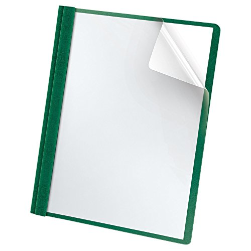 Oxford Premium Clear Front Report Covers, Letter Size, Dark Green, 25 per Pack (58817)