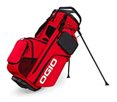 The ultimate fully loaded RTC (range-to-cart) bag has all the storage, organization, durability, and premium materials you would expect from a cart bag in the Ogio Alpha family, but with a stand. Made from premium 600D cordura ecomade polyest...