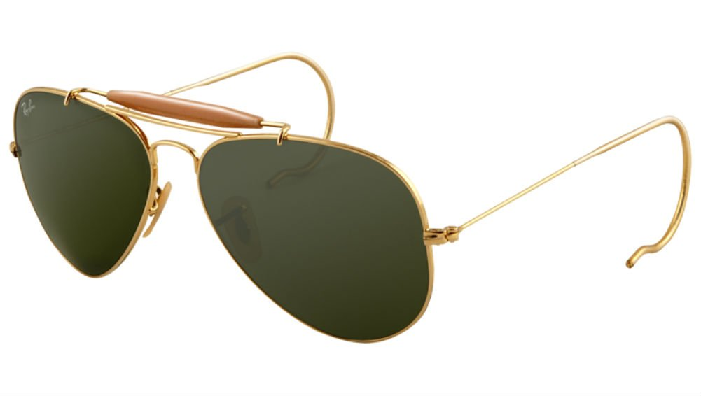 Ray-Ban Outdoorsman 3030 Aviator Sunglasses with Wire Wrap Ears by Ray-Ban