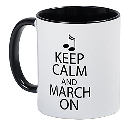 CafePress - Keep Calm And March On - Unique Coffee Mug, Coffee Cup (Marching Band Mug)