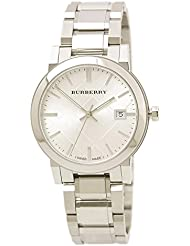 Burberry Mens BU9000 Large Check Stainless Steel Bracelet Watch