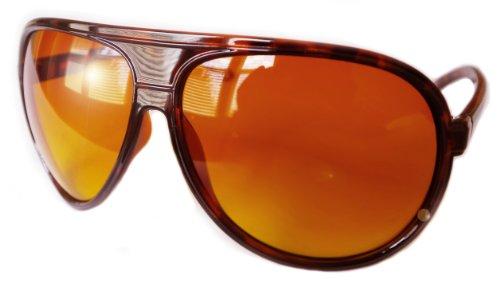 Aviator Sunglasses Sun Blocker HD Orange Amber Lens Brown Hangover - Sunglasses The Hangover