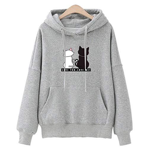 (Gyouanime Hoodies Sweater Women Baggy Cat Jumper Pullover Tops Pullover Jumper Sweatshirts Jackets Coats)