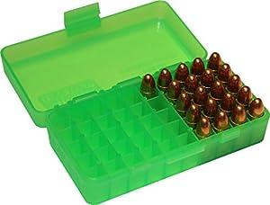 MTM 380/9MM Cal 50 Round Flip-Top Ammo Box