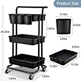 Asoopher 3-Tier Rolling Utility Cart, Storage