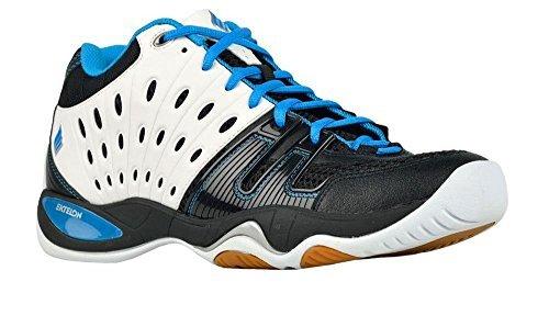 Ektelon Men's T22 Mid White/Black/Energy Blue Synthethic Racquetball Shoes 9.5 D(M) US