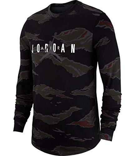 d14eba8be107 Galleon - Nike Mens Jordan Sportswear Camo Tech Long Sleeve Tshirt Dark  Smoke Grey Camo Size 3XL