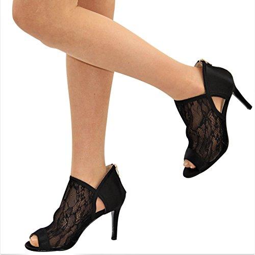 Noir Tinsel Danse Femme Salon de q0YSPn8W0