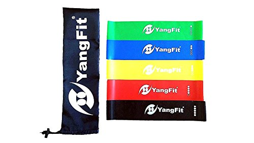 Cheap YangFit Resistance Loop Exercise Bands for Fitness Set of 5 for Sports Activities Women Men for Legs and Thighs Muscles