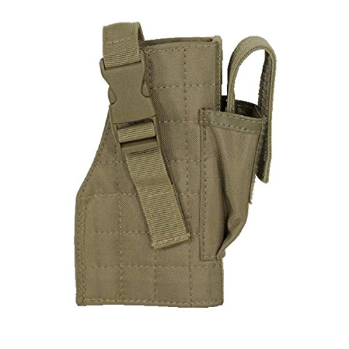 VooDoo Tactical 25-0029007001 Holster With Attached Mag Pouch, Right, Coyote