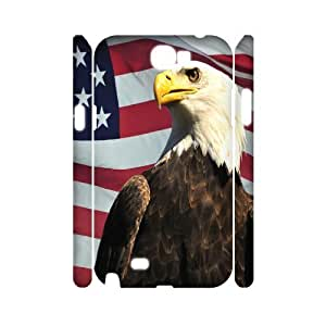 VNCASE American Flag Phone Case For Samsung Galaxy Note 2 N7100 [Pattern-1]